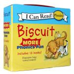 【顺丰速运】进口英文原版 Biscuit more Phonics Fun 小饼干狗系列12本盒装 长元音单词拼读 英