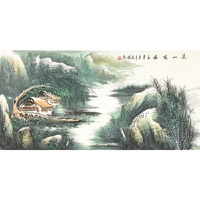 戴长国《溪山揽胜》著名画家