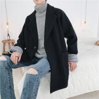 秋冬装毛呢大衣男中长款韩版加厚呢子外套冬季男士风衣情侣呢大衣