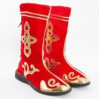 舞蹈鞋舞台演出鞋弹力高筒靴子新款少数民族舞蹈鞋儿童软底