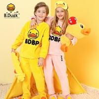 【4折价:175.6】B.duck小黄鸭男女童童装 新款运动两件套儿童洋气卫衣潮BF5081908