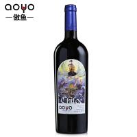 傲鱼智利原瓶进口红酒 奇洛埃精酿梅洛半甜红葡萄酒2017年750ml*1
