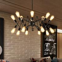 工业风蜘蛛吊灯创意艺术灯具简约复古客厅北欧铁艺吊灯
