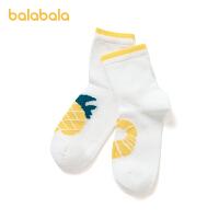 【8.4券后预估价:9.7】巴拉巴拉女童袜子儿童网眼袜夏季薄款透气水果图案柔软舒适单双装