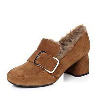 Belle/百丽时尚保暖牛皮女皮鞋14301DM6
