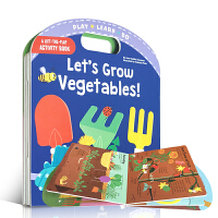英文原版绘本 Let's Grow Vegetables 让我们来种菜 低幼儿童启蒙认知玩具书亲子共读机关操作翻翻纸板