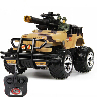 儿童电动玩具坦克战车遥控车越野车吉普车充电