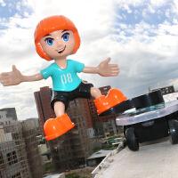 抖音耐摔翻斗车非遥控特技滑板车电动汽车儿童玩具车男孩3-6周岁