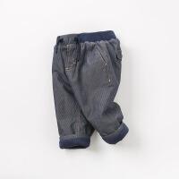 夹棉戴维贝拉秋冬新款男童加厚保暖棉裤DB9209