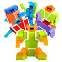 【六一新品】 儿童玩具机器人 顺嘉字母变形玩具金刚战队数字变形09机器人26个英文abc组合 顺嘉