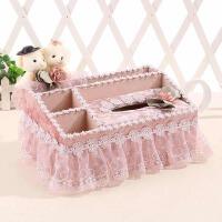 茶几桌面遥控器收纳盒餐巾抽纸盒创意欧式客厅布艺多功能纸巾盒