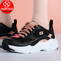 Skechers/斯凯奇女鞋新款低帮运动鞋厚底熊猫鞋舒适透气轻便缓震防滑耐磨休闲鞋66666310-BKPK