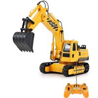 双鹰遥控工程车充电挖掘机挖土机可充电儿童玩具车