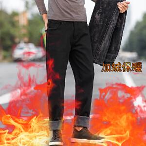 冬季裤子男加绒修身韩版潮流休闲裤男士冬天带绒加厚外穿保暖长裤