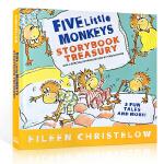 英文原版 五只小猴子 Five Little Monkeys Storybook Treasury 5个故事合1精装