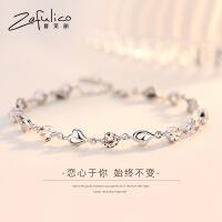 925纯银手链女韩版情侣简约个性森系学生520生日礼物送女友闺蜜