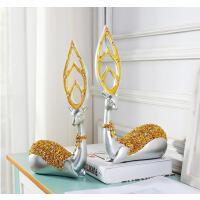 鹿摆件家居饰品客厅大号树脂创意工艺品简约欧式电视柜酒柜装饰品