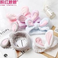 韩国可爱立体兔耳朵洗脸束发带敷面膜化妆头箍女宽边个性欧美发箍
