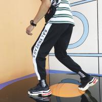 ins束脚裤男学生韩版宽松运动裤男夏ulzzang百搭哈伦原宿bf风潮