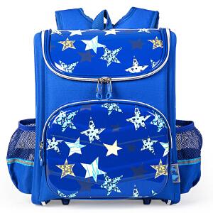 卡拉羊 儿童书包1-2-3-4年级小学生轻量减负护脊防泼水双肩包韩版CX2011