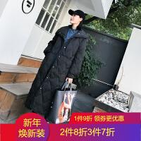 轻薄羽绒服女中长款2018冬韩版时尚修身外套超长过膝外套女装