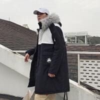 冬季韩版宽松毛领中长款棉服帅气网红bf外套chic保暖加厚工装棉衣