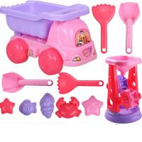 儿童沙滩玩具车套装大号铲子桶决明子玩具沙漏男女孩婴儿玩具3岁