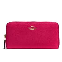 【当当自营】蔻驰(COACH)时尚女士卵石皮革长款卡包钱包手拿包  F57215