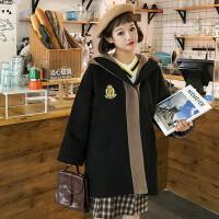 学院风秋冬季韩版新款女棒球服中长款时尚休闲开衫大衣女外套