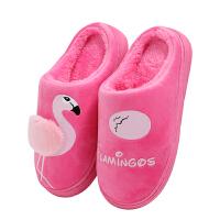棉拖鞋女秋冬季情侣家居保暖厚底室内包跟月子鞋冬天毛毛棉拖鞋男