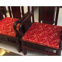 仿古红木沙发坐垫套中式椅子实木家具餐椅圈椅太师椅海绵棕垫定做