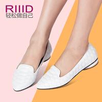 RIIID女鞋春夏真皮平跟女单鞋 舒适