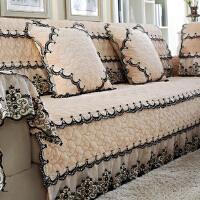 四季欧式布艺毛绒沙发垫定制简约现代通用防滑全包沙发套罩巾