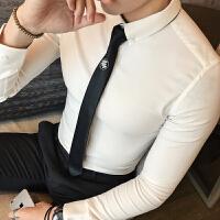 青年长袖衬衣男S小码小号S码上班工作白衬衣打底成熟衬衫长袖打底