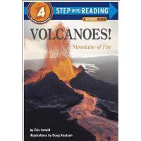 【现货】英文原版 Volcanoes!: Mountains of Fire(Step Into Reading) 火山