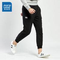 真维斯男装冬装新款 针织珊瑚绒休闲裤