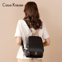 Clous KrauseCK女包双肩包女新款双肩包书包旅行包时尚百搭学院风休闲包