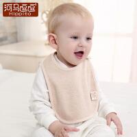 宝宝口水巾婴儿围嘴纯棉防水饭兜0-1-2岁喂奶巾新生儿围兜防吐奶