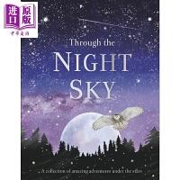 【中商原版】DK Through the Night Sky 夜空观星 儿童天文知识宇宙科普插图 精装 英文原版 7-1