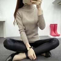 秋冬新款加厚高领毛衣女韩版女士修身麻花显瘦套头针织打底衫内搭 均码