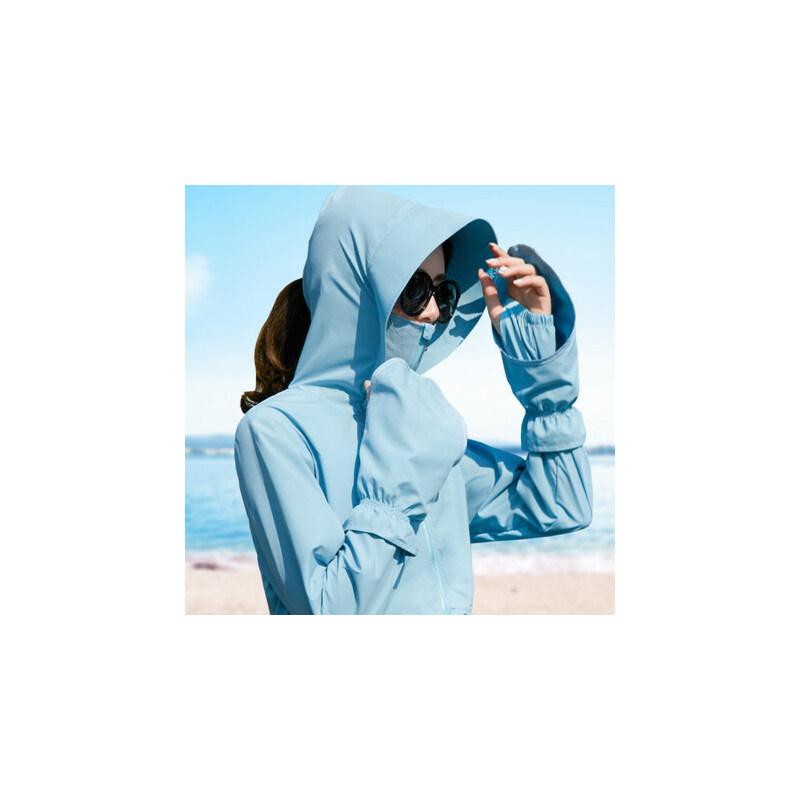 哆哆何伊2018夏季新款骑车防晒衣女防紫外线韩版短款户外沙滩薄款外套开衫真正防晒,可拆卸手套设计