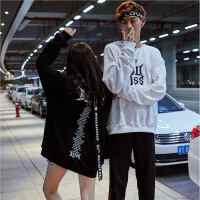 新款暗黑个性欧美街头套头卫衣男士秋季日系潮学生圆领长袖