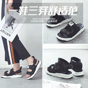 ZHR2018夏季新款韩版运动凉鞋百搭厚底沙滩鞋学生平底女鞋潮鞋子AQ02