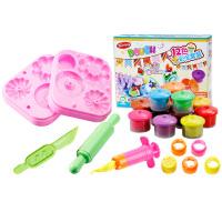 甜甜圈+针筒模具超轻粘土手工diy女孩儿童橡皮泥模具工具套装