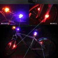 自行车灯青蛙灯夜骑儿童滑板车LED警示灯尾灯装饰山地车装备前灯
