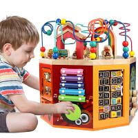8面串绕珠百宝箱儿童小孩玩具1-2-3岁早教开发男女宝宝智力玩具