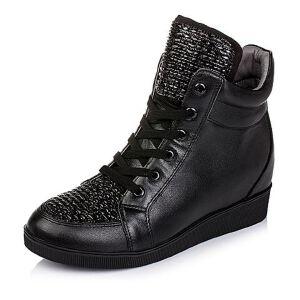 Teenmix/天美意专柜同款牛皮/织物女短靴AL56DDD5