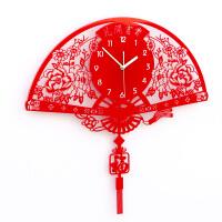 挂钟客厅现代简约创意艺术时钟中式墙钟大号石英钟