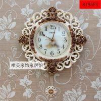 新品欧式挂钟客厅大号挂表创意静音钟表摆钟墙壁钟卧室石英钟钟表SN0526 20英寸