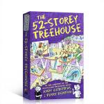 顺丰包邮 英文进口原版 The 52-Storey Treehouse 小屁孩树屋历险记52层 儿童漫画章节书 学生课